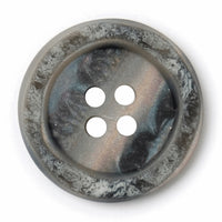 4 Hole Button - Light Grey Marble Effect
