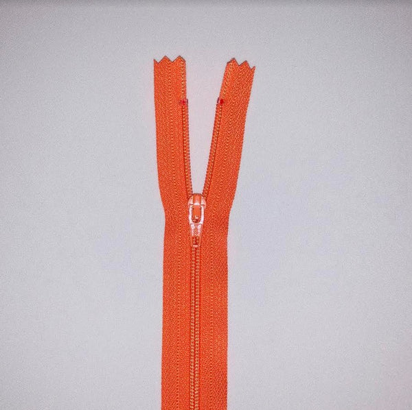 YKK Dress Zip - Orange