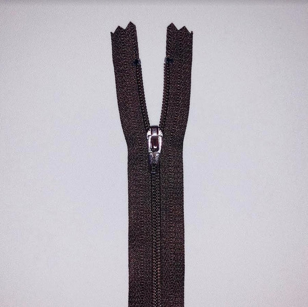 YKK Dress Zip - Brown