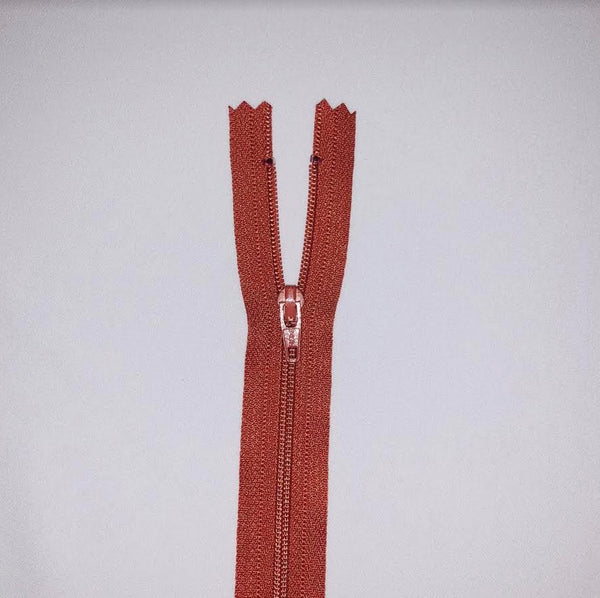 YKK Dress Zip - Rust