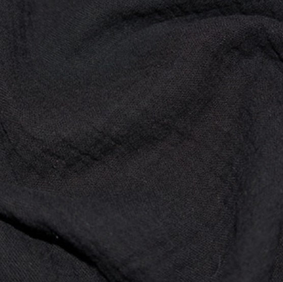 100% Cotton Double Gauze - Black