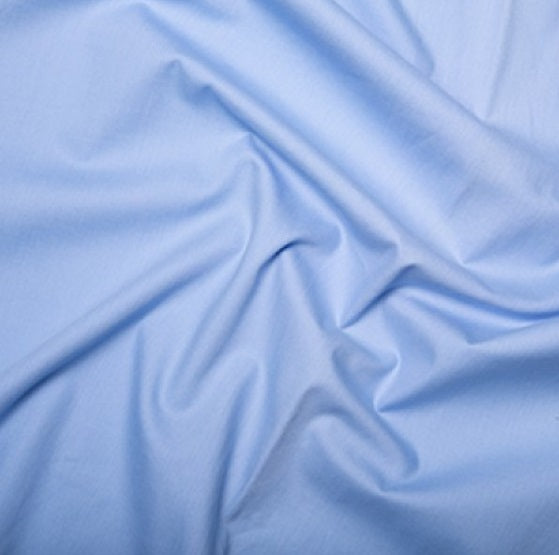100% Cotton Poplin - Candy Blue