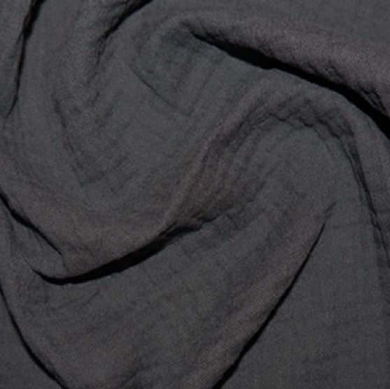 100% Cotton Double Gauze - Charcoal