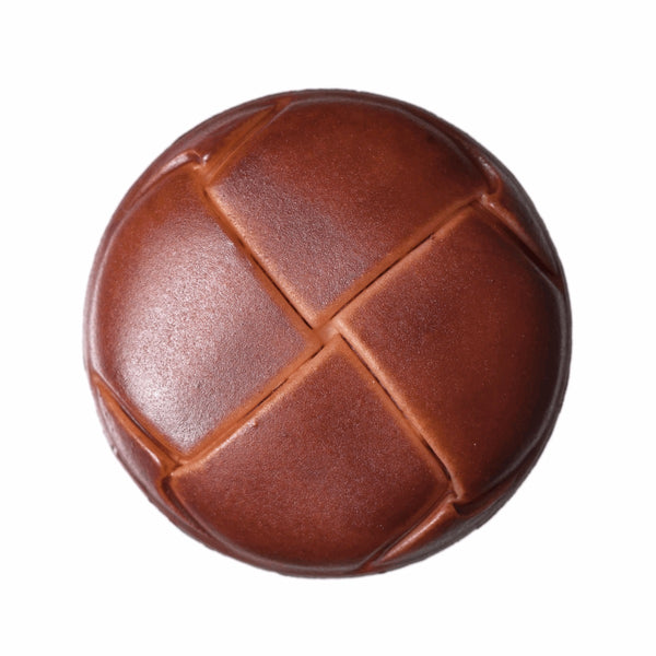 Imitation Leather Shank Button - Brown