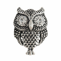 Metal Owl Shank with Diamante Eyes