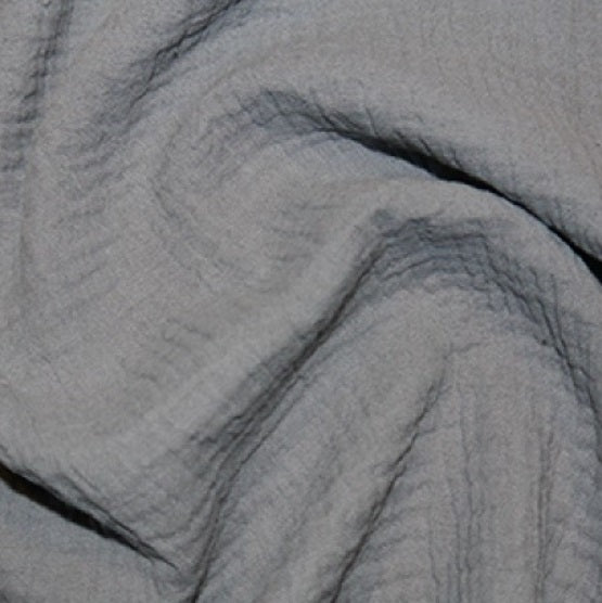 100% Cotton Double Gauze - Grey
