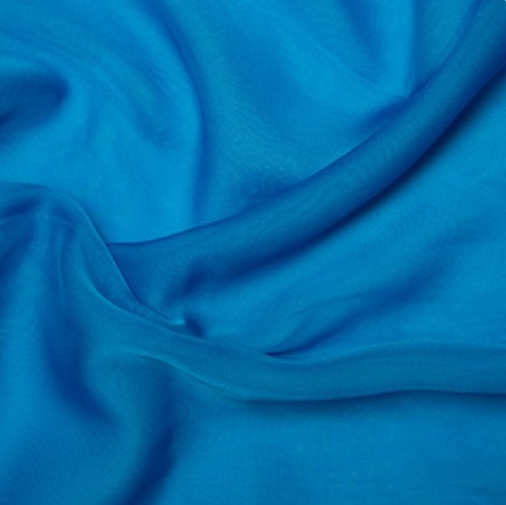 100% Polyester Cationic Chiffon - Kingfisher