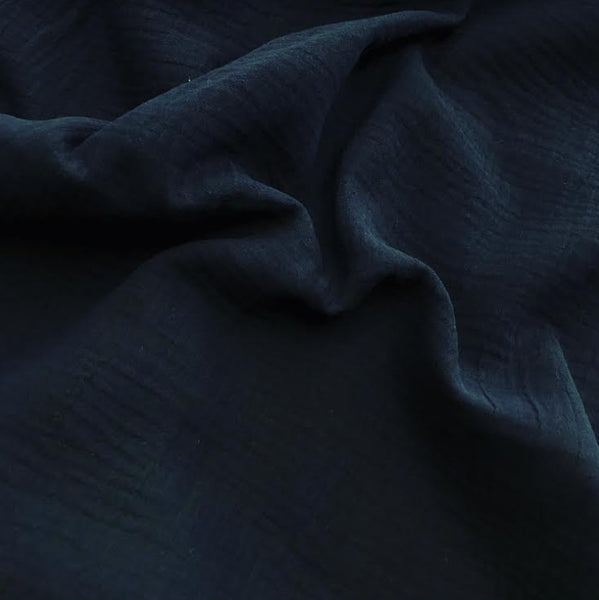 100% Cotton Double Gauze - Navy