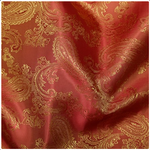 Paisley Jacquard Lining - Orange/Gold