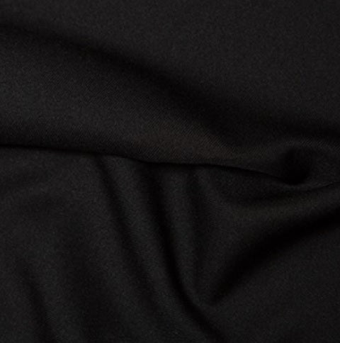 100% Polyester Twill - Black