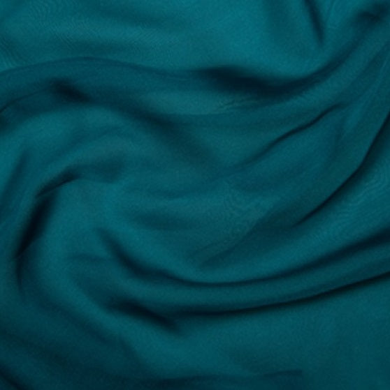 100% Polyester Cationic Chiffon - Teal