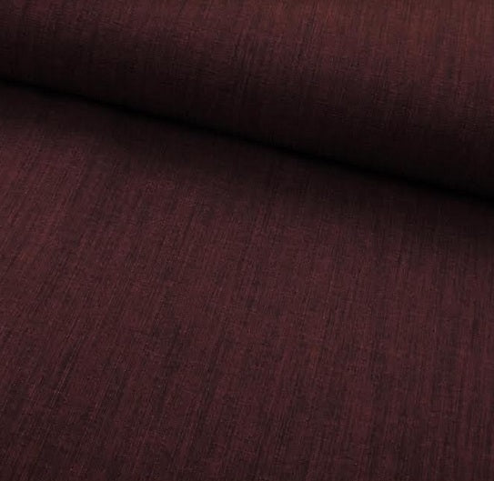 Polyester Linen Look - Wine