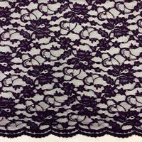 Double Scallop Lace - Aubergine