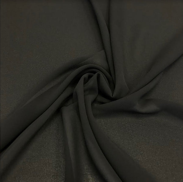 100% Polyester Georgette - Black