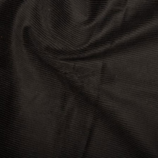 100% Cotton Corduroy 8 wale - Black