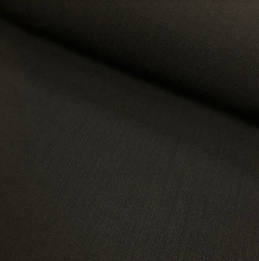 Polyester Linen Look - Black