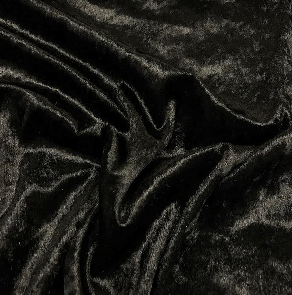 Crushed Velour - Black