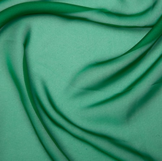 100% Polyester Cationic Chiffon - Bright Green