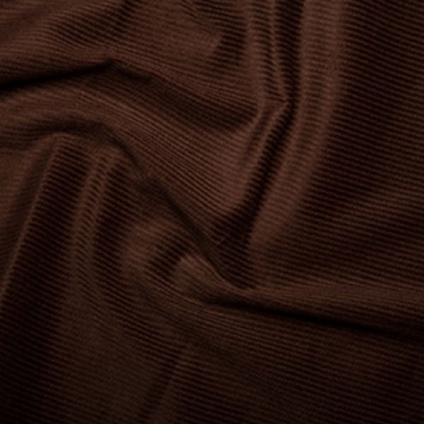 100% Cotton Corduroy 8 wale - Brown