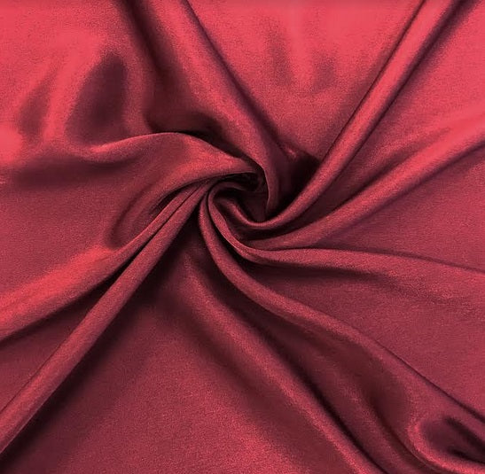 Satin Back Faille - Burgundy
