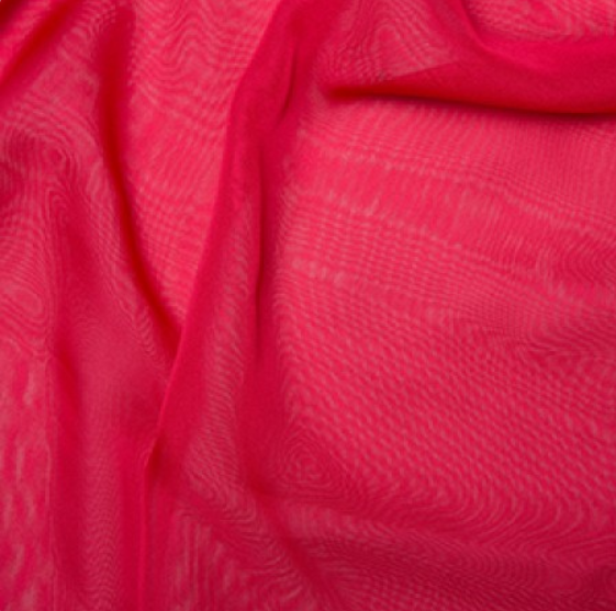 100% Polyester Cationic Chiffon - Cherry
