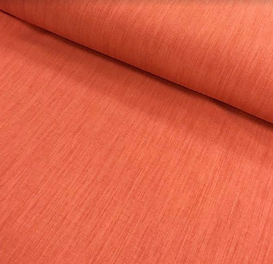 Polyester Linen Look - Coral