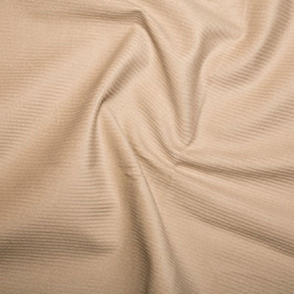 100% Cotton Corduroy 8 wale - Cream