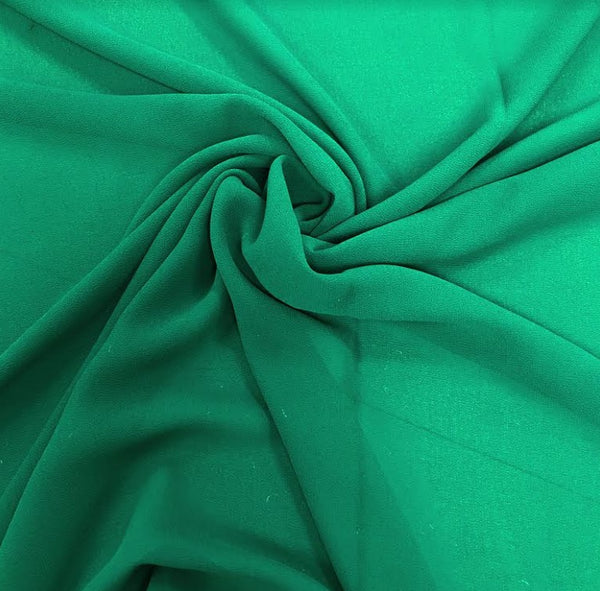 100% Polyester Georgette - Emerald
