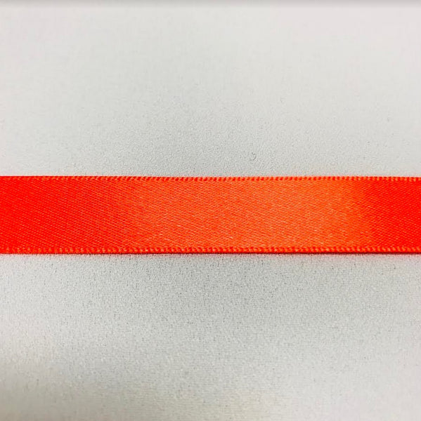 Satin Ribbon - Flo Orange