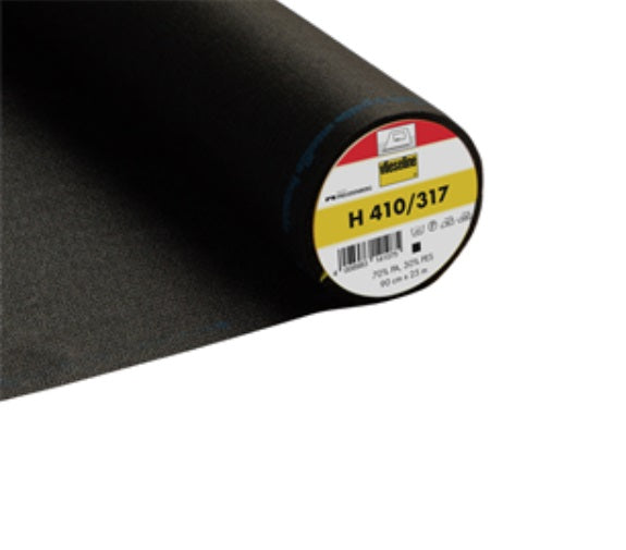 Heavy Ultrasoft Iron On Interfacing - Black (2V317)