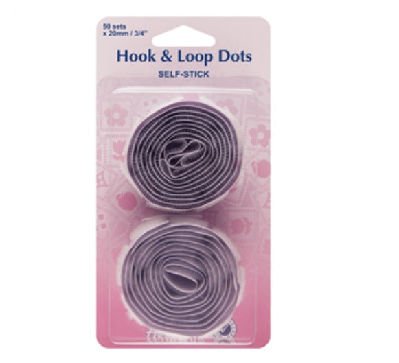 Hook & Loop dots - White