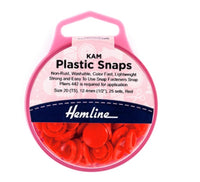 KAM Plastic Snaps - Red