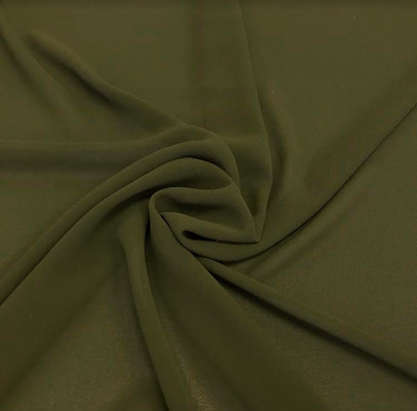 100% Polyester Georgette - Khaki
