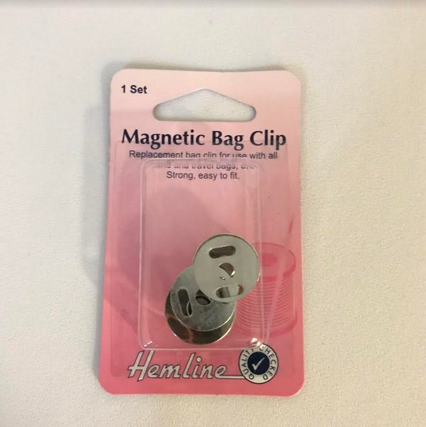 Magnetic Bag Clip - Silver