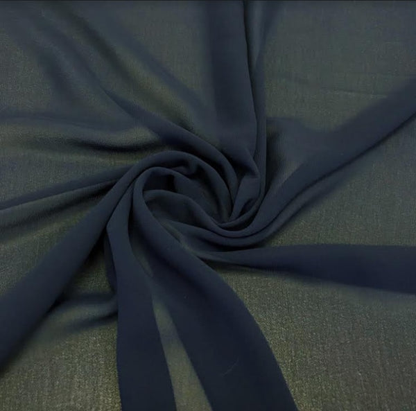 100% Polyester Georgette - Navy