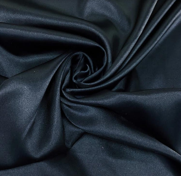 Stretch Satin - Navy
