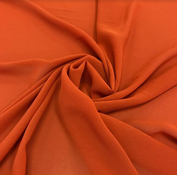 100% Polyester Georgette - Orange