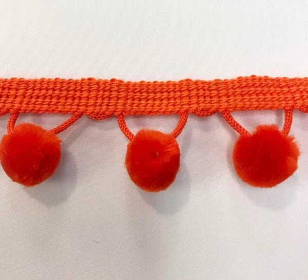 Pom Pom Trim - Orange