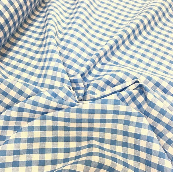 "1/4"" Gingham - Pale Blue"