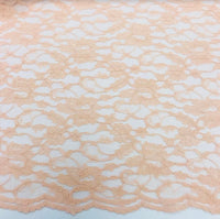 Double Scallop Lace - Peach