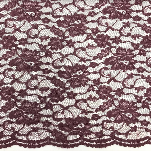Double Scallop Lace - Plum