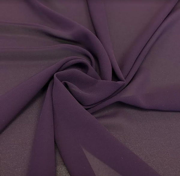 100% Polyester Georgette - Purple