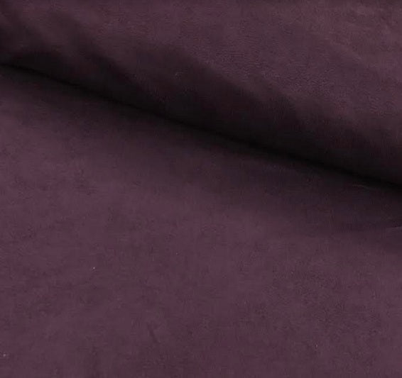 100% Polyester Suedette - Purple
