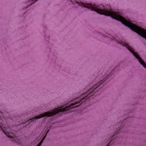 100% Cotton Double Gauze - Purple