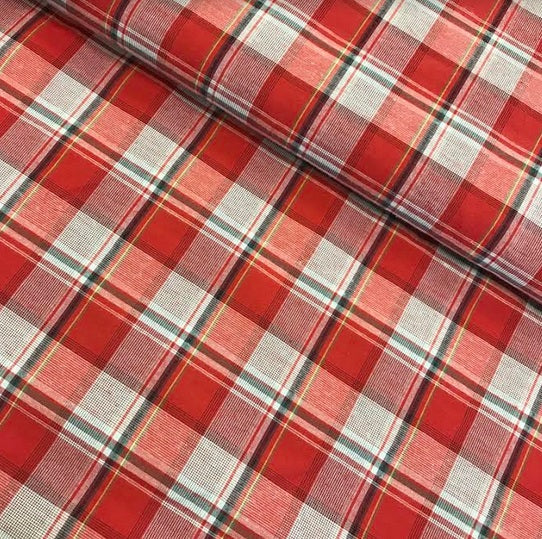 Poly Cotton Check - Red 41385 KF8437