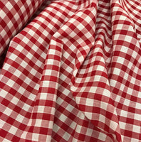 "1/4"" Gingham - Red"