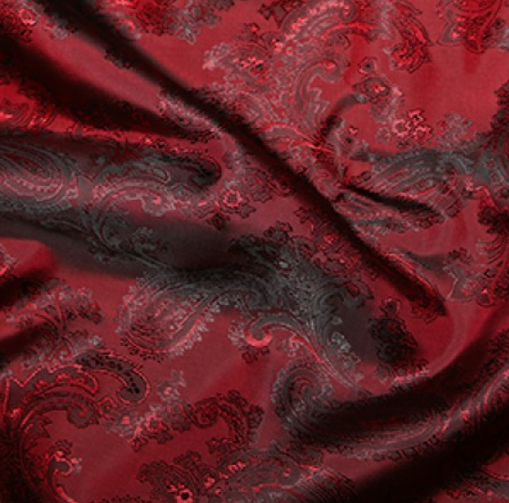 Paisley Jacquard Lining - Red