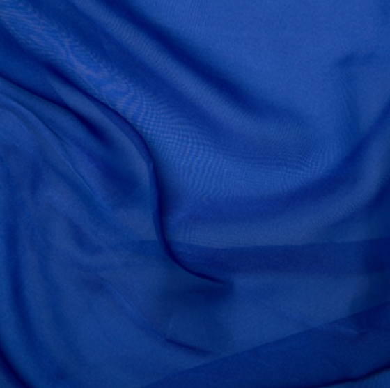 100% Polyester Cationic Chiffon - Royal