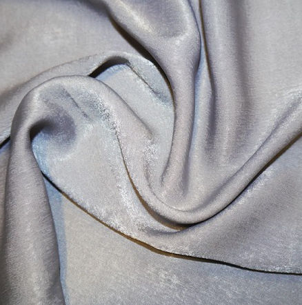 Polyester Sand Washed Silk Touch - Silver