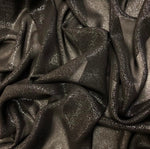 Glitter Chiffon - Silver on Black